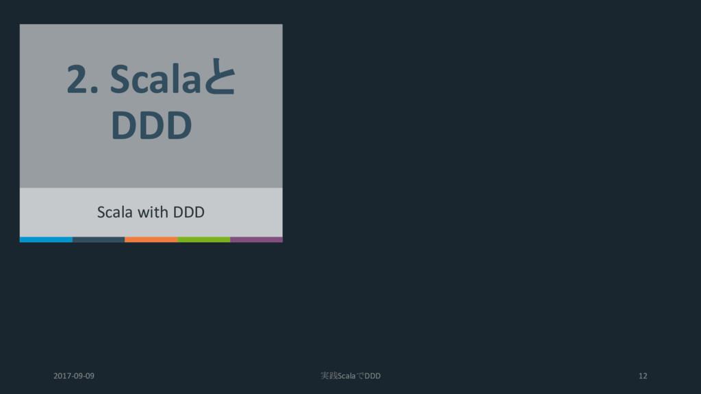 2. Scalaと DDD Scala with DDD 2017-09-09 実践Scala...
