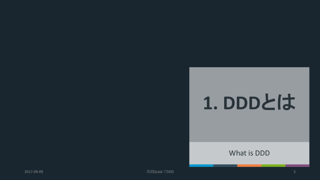 1. DDDとは What is DDD 2017-09-09 実践ScalaでDDD 5