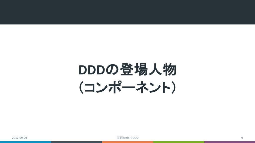 DDDの登場人物 (コンポーネント) 2017-09-09 実践ScalaでDDD 9