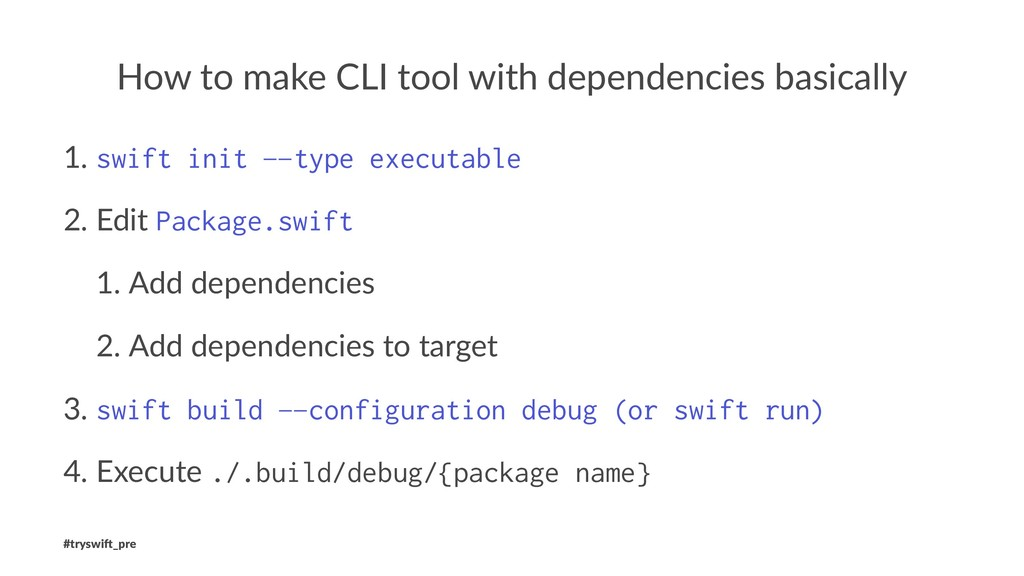 How to make CLI tool with dependencies basicall...