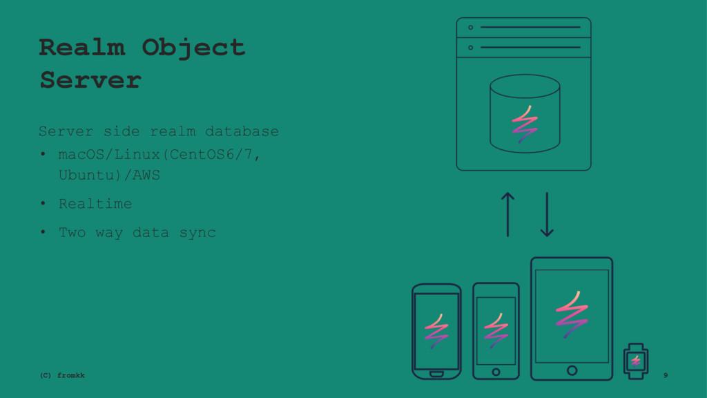 Realm Object Server Server side realm database ...