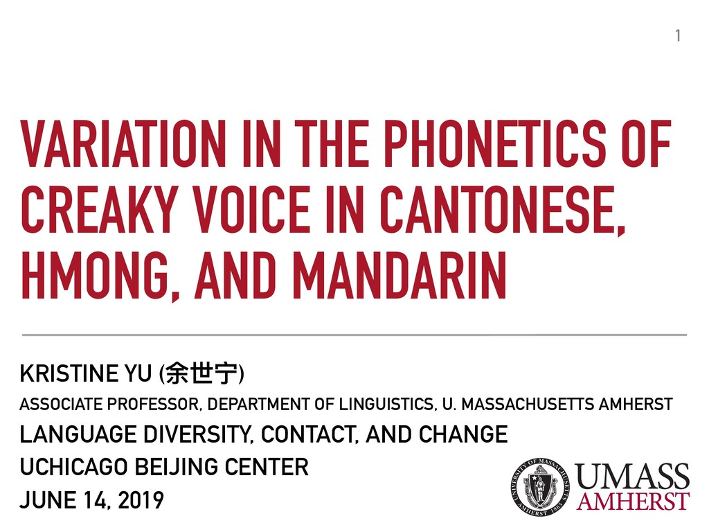 VARIATION IN THE PHONETICS OF CREAKY VOICE IN C...