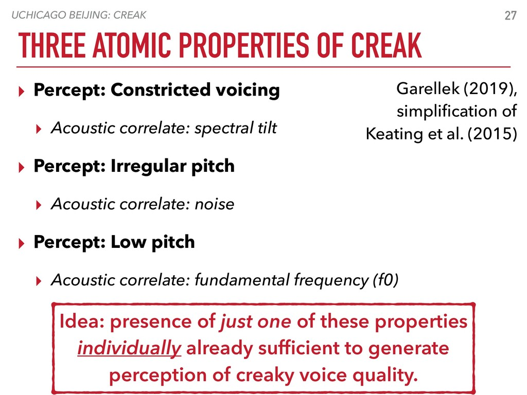 UCHICAGO BEIJING: CREAK THREE ATOMIC PROPERTIES...