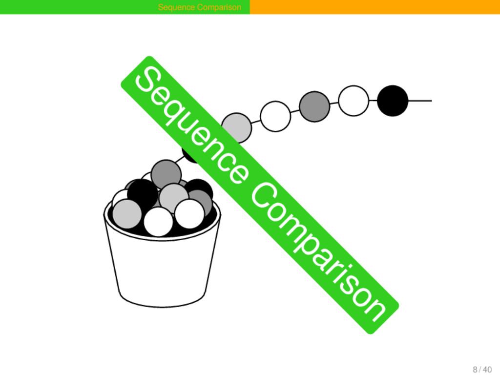 Sequence Comparison Sequence C om parison 8 / 40