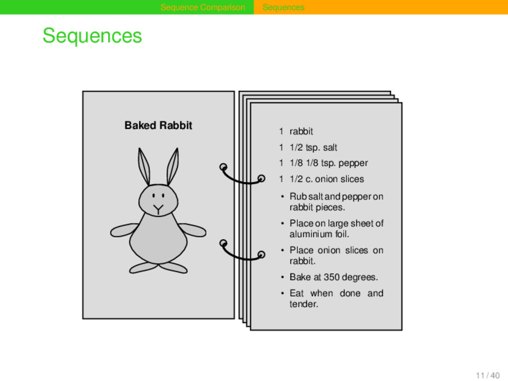 Sequence Comparison Sequences Sequences 1 Baked...