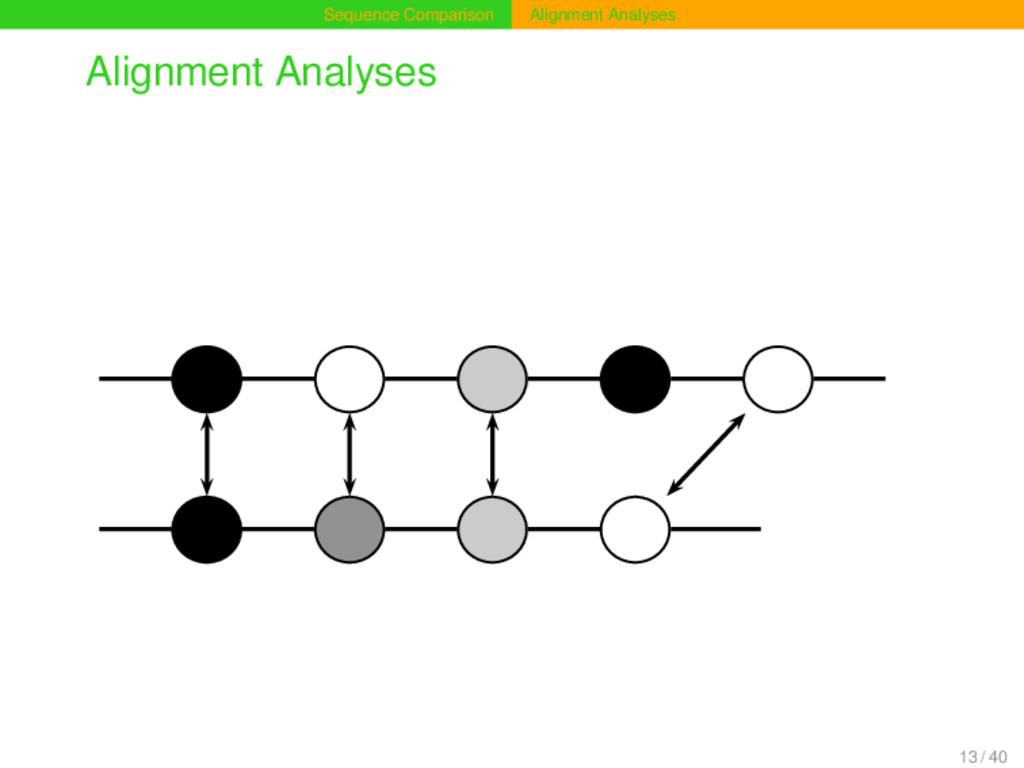 Sequence Comparison Alignment Analyses Alignmen...