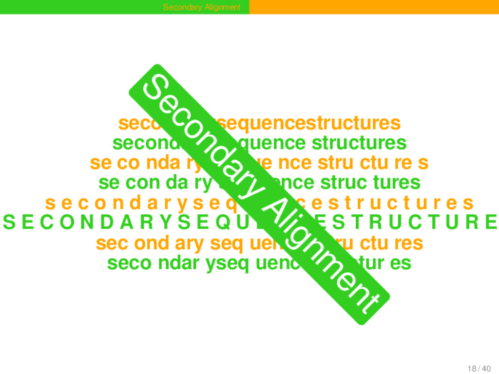 Secondary Alignment secondarysequencestructures...
