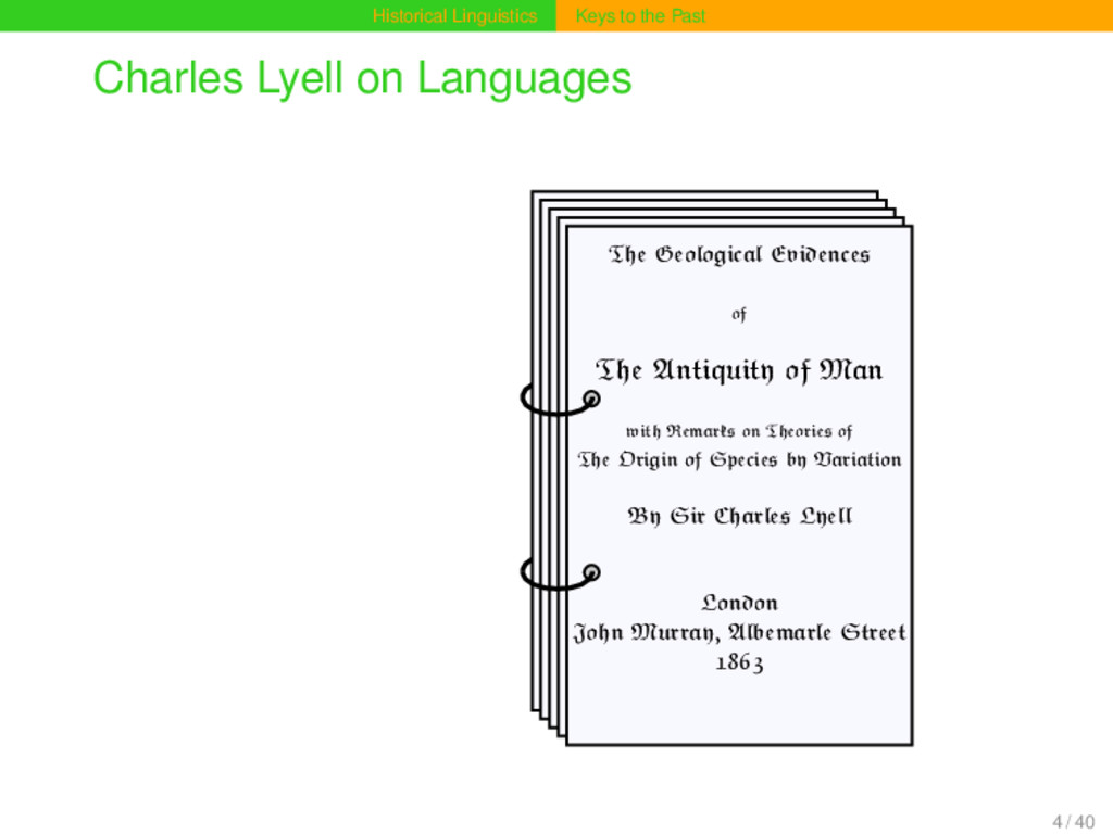 Historical Linguistics Keys to the Past Charles...