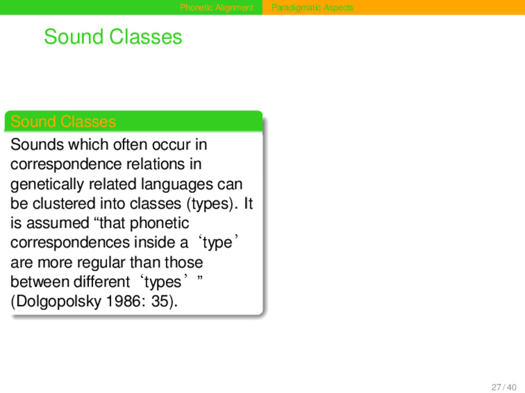 Phonetic Alignment Paradigmatic Aspects Sound C...