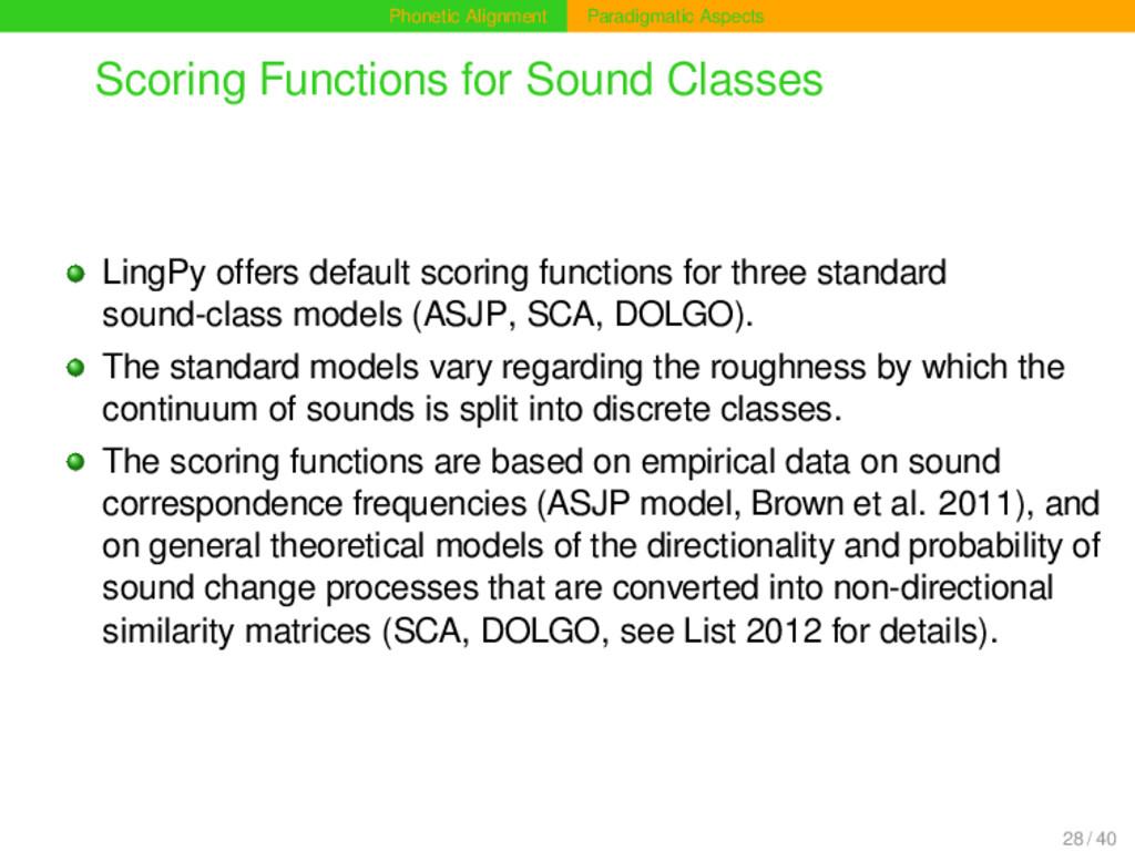 Phonetic Alignment Paradigmatic Aspects Scoring...