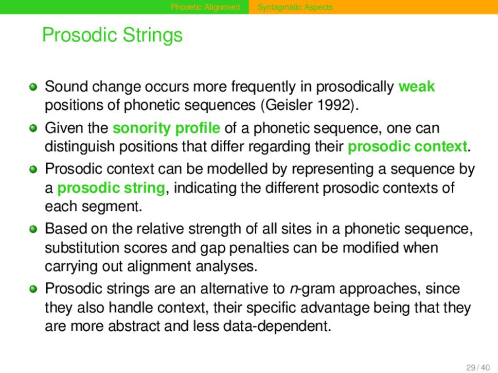 Phonetic Alignment Syntagmatic Aspects Prosodic...