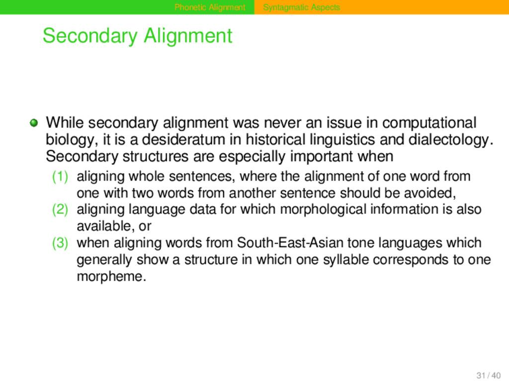 Phonetic Alignment Syntagmatic Aspects Secondar...