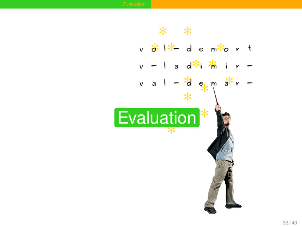 Evaluation * * * * * * * * * * * * * v o l - d ...