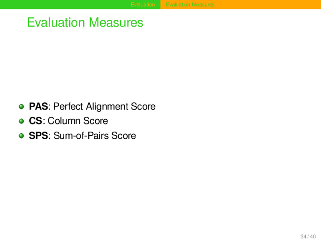 Evaluation Evaluation Measures Evaluation Measu...