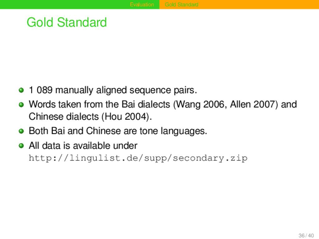 Evaluation Gold Standard Gold Standard 1 089 ma...