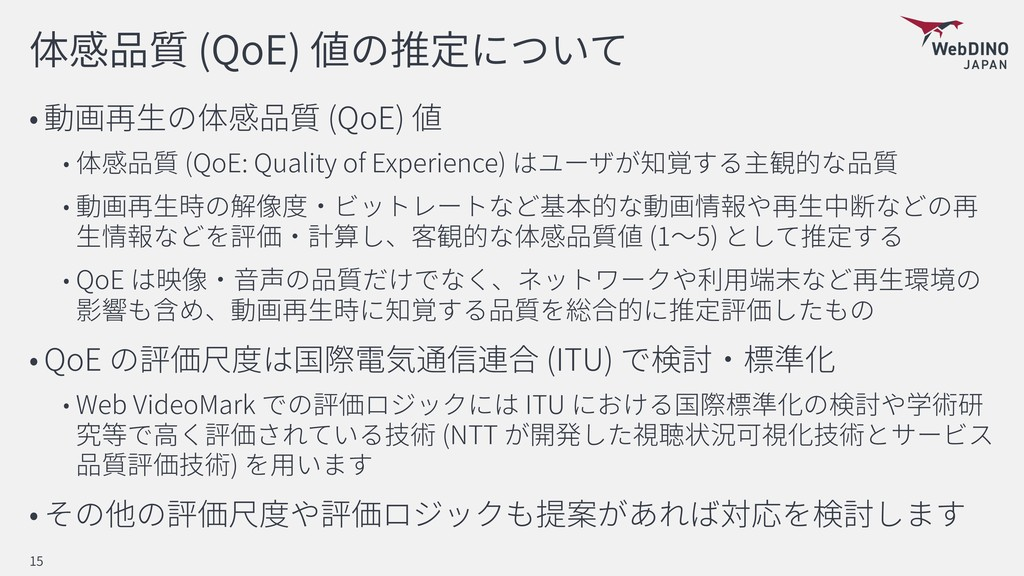 (QoE) (QoE) (QoE: Quality of Experience) (1 5) ...