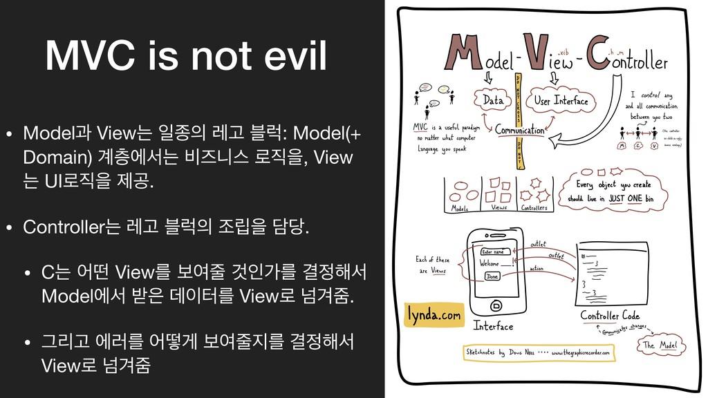 MVC is not evil • Modelҗ Viewח ੌઙ ۨҊ ࠶۟: Model...