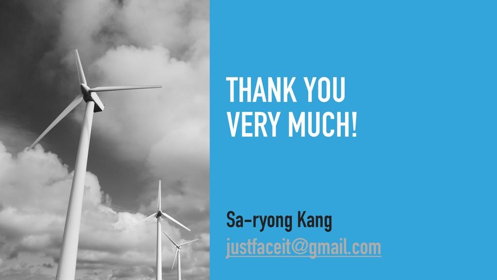 THANK YOU VERY MUCH! Sa-ryong Kang justfaceit@...