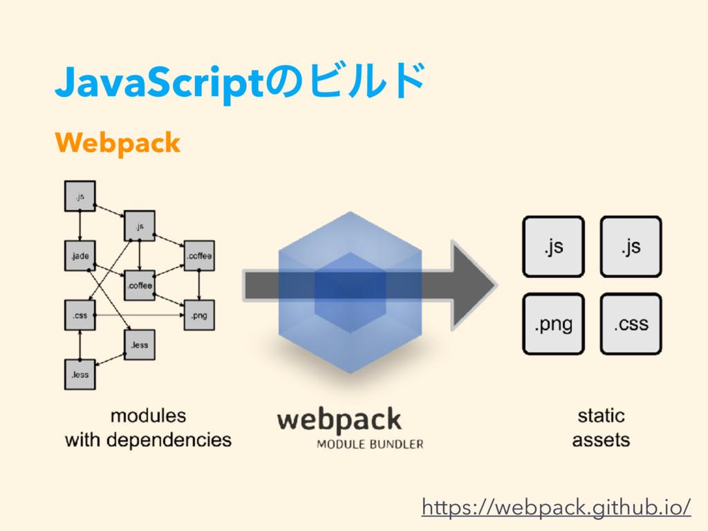 JavaScriptͷϏϧυ Webpack https://webpack.github.i...