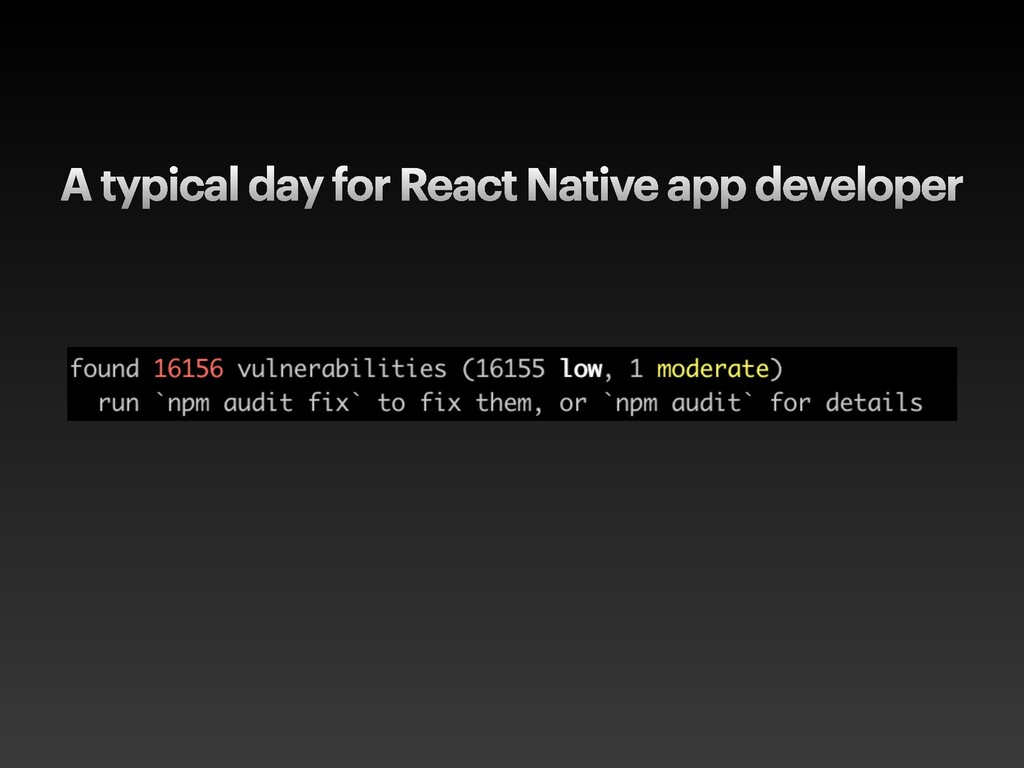 A typical day for React Native app developer