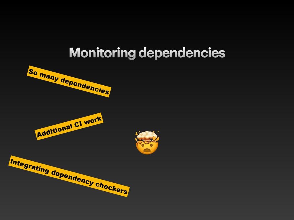 Monitoring dependencies  So many dependencies A...