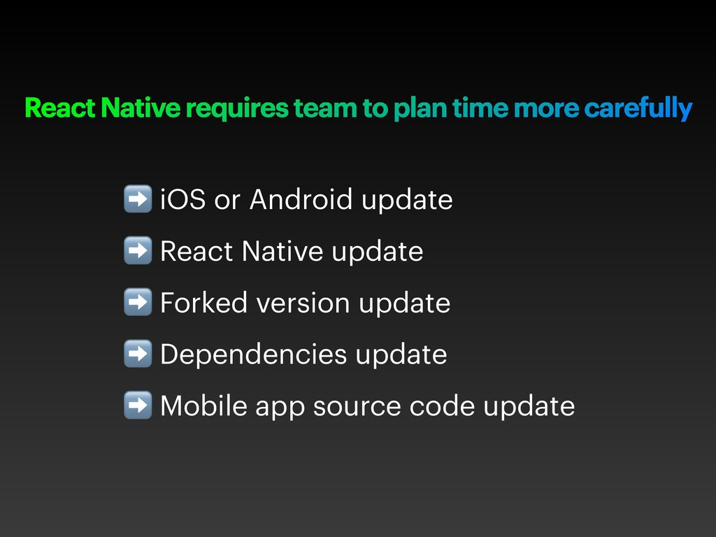 React Native requires team to plan time more ca...