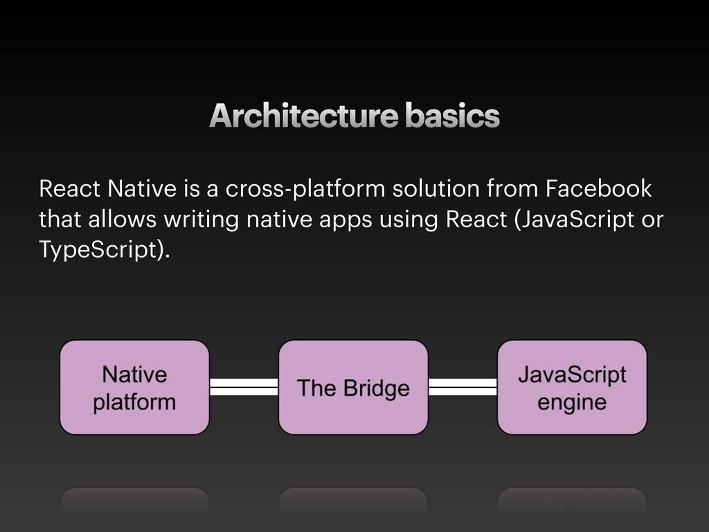 Architecture basics React Native is a cross-pla...