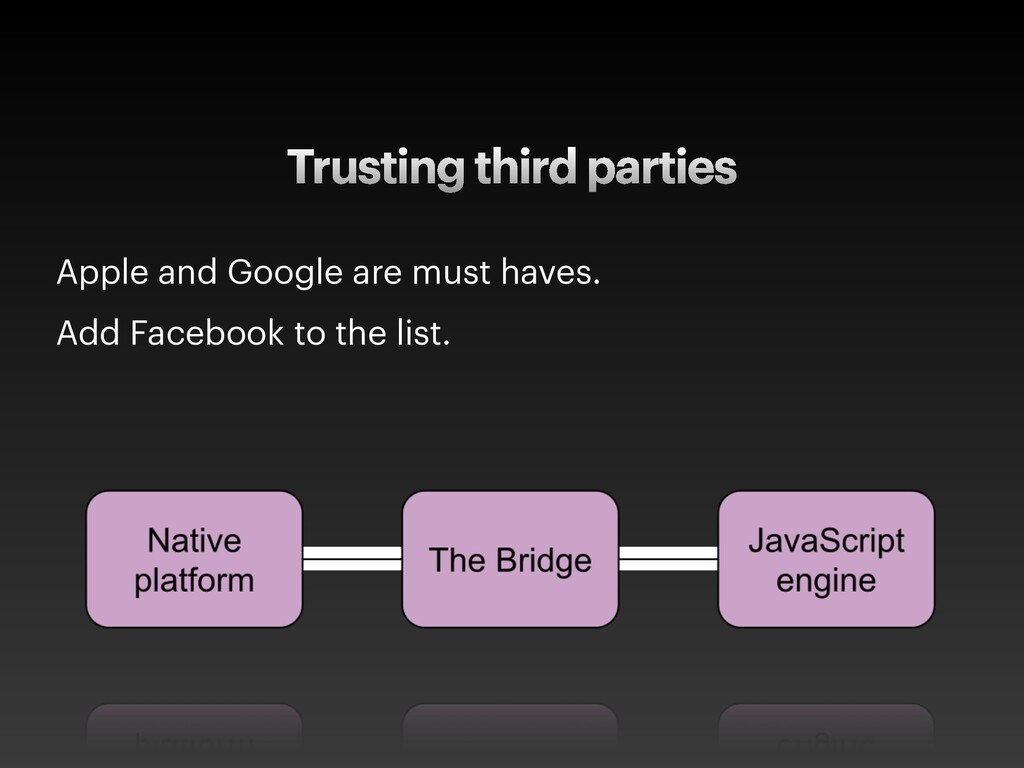 Trusting third parties Apple and Google are mus...