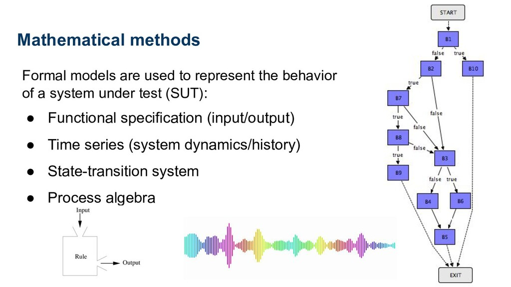 Formal models are used to represent the behavio...