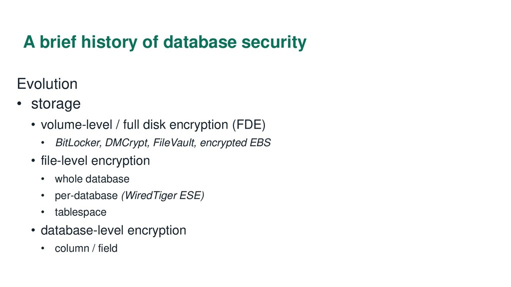 A brief history of database security Evolution ...