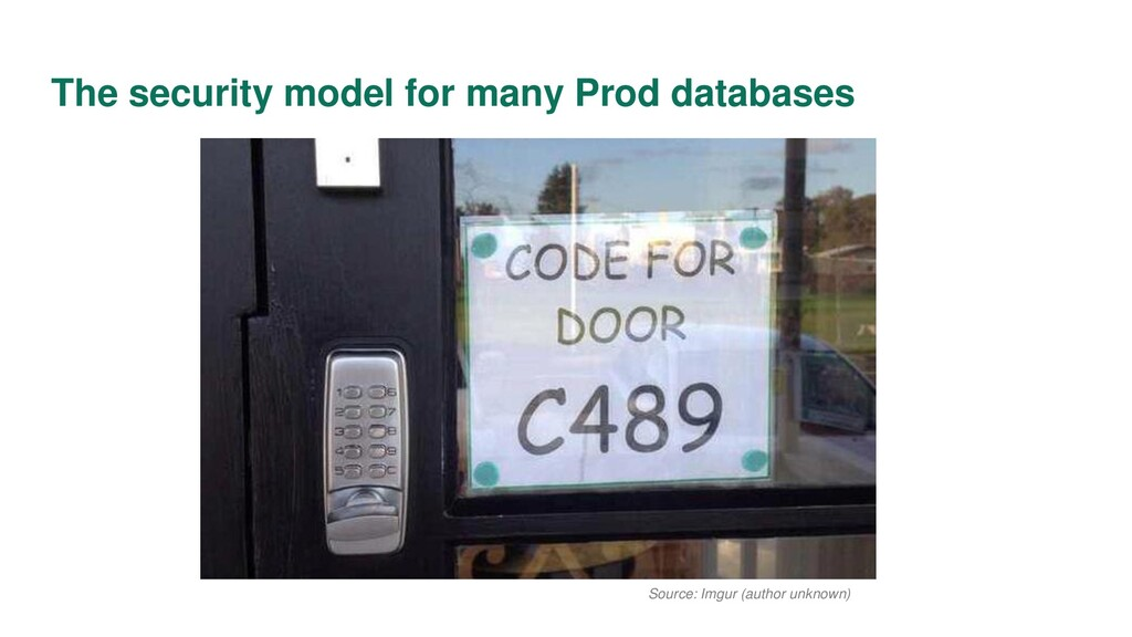 The security model for many Prod databases Sour...