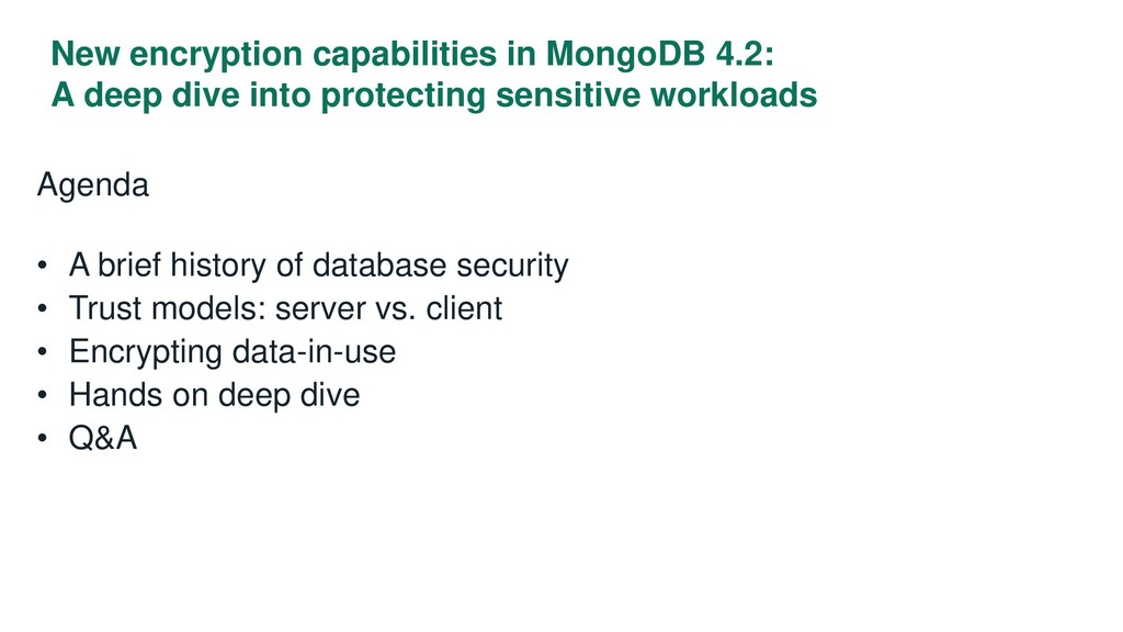 New encryption capabilities in MongoDB 4.2: A d...