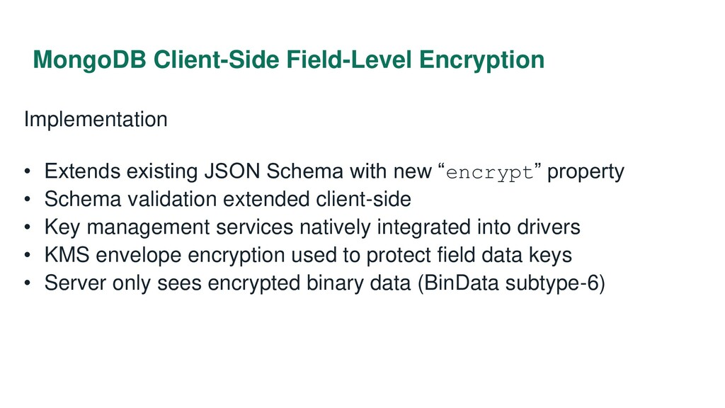 MongoDB Client-Side Field-Level Encryption Impl...