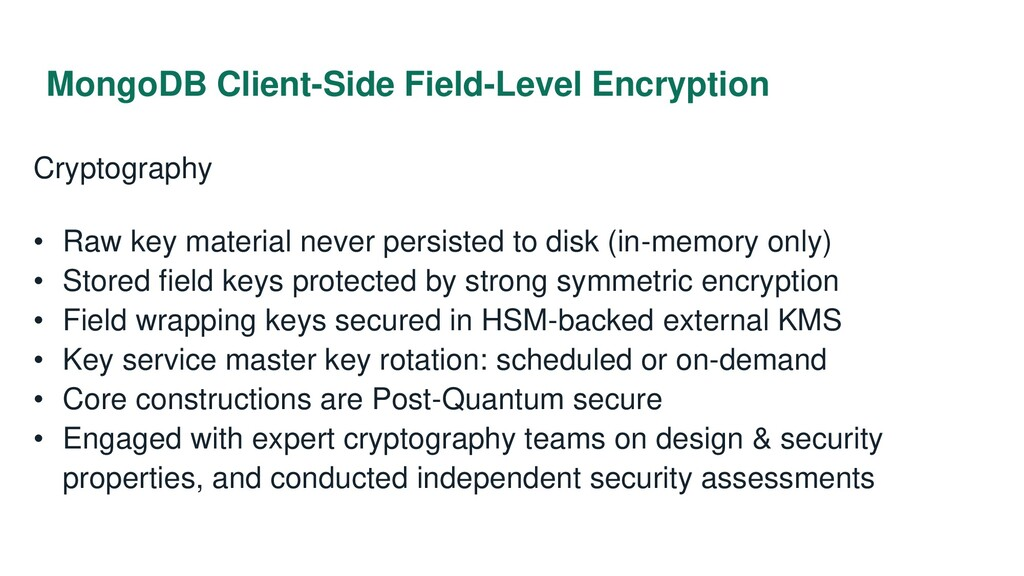 MongoDB Client-Side Field-Level Encryption Cryp...