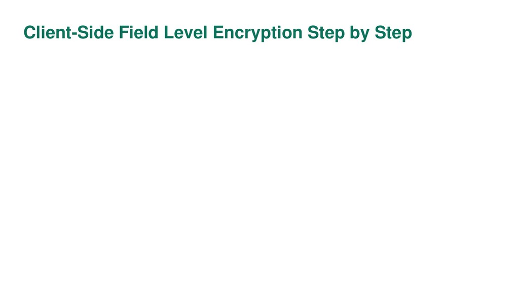 Client-Side Field Level Encryption Step by Step