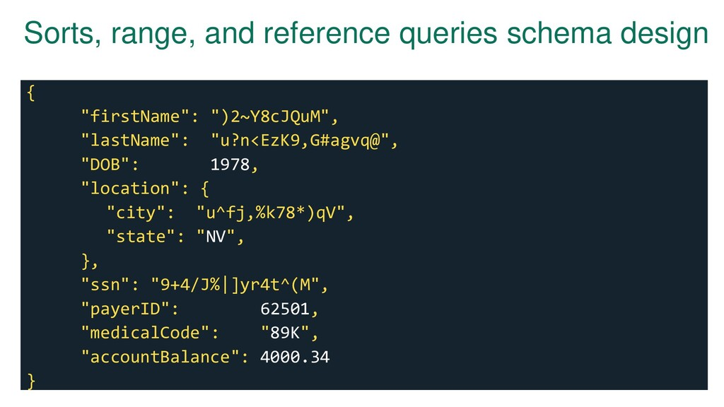 Sorts, range, and reference queries schema desi...