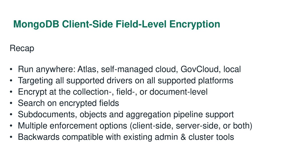 MongoDB Client-Side Field-Level Encryption Reca...