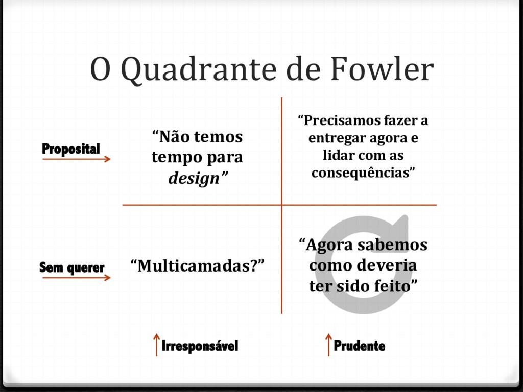 O Quadrante de Fowler Irresponsável Sem querer ...
