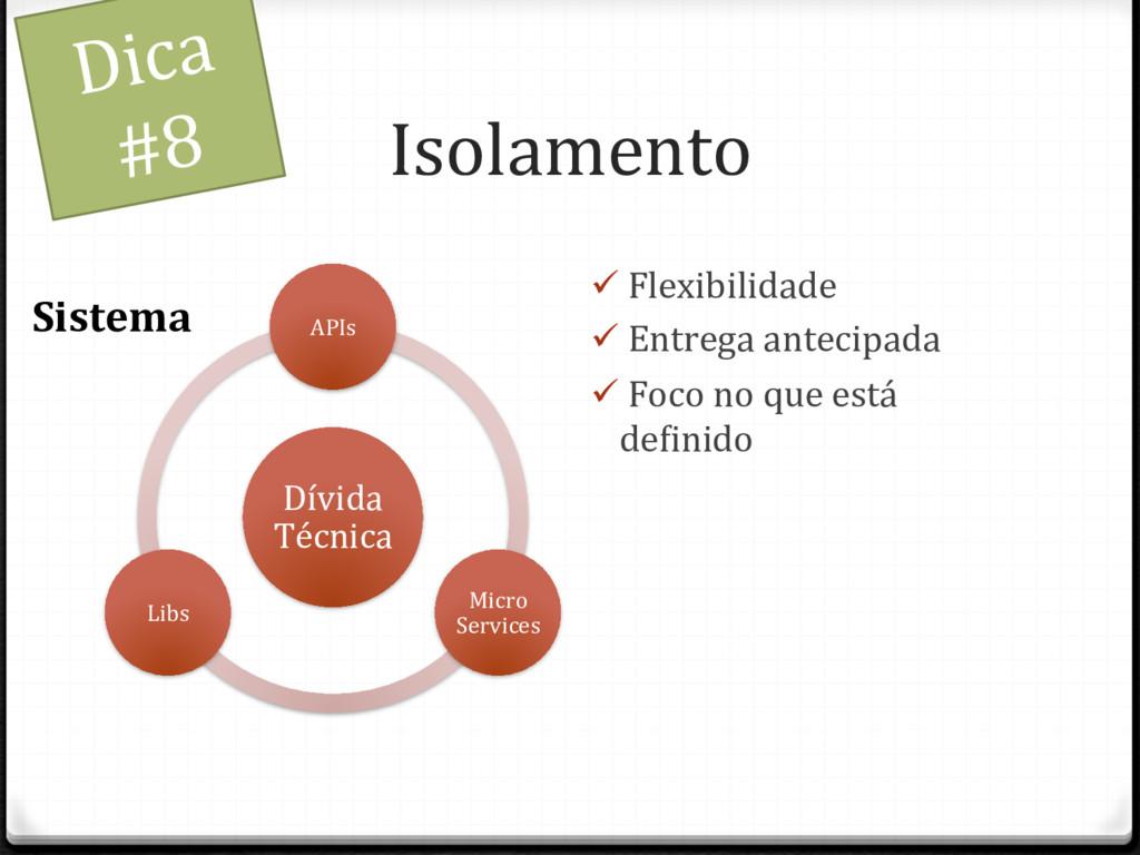 Isolamento Dívida Técnica APIs Micro Services L...
