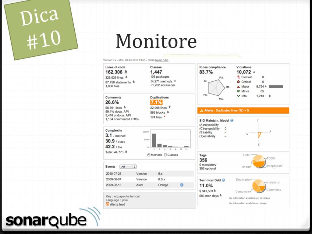 Monitore Dica #10