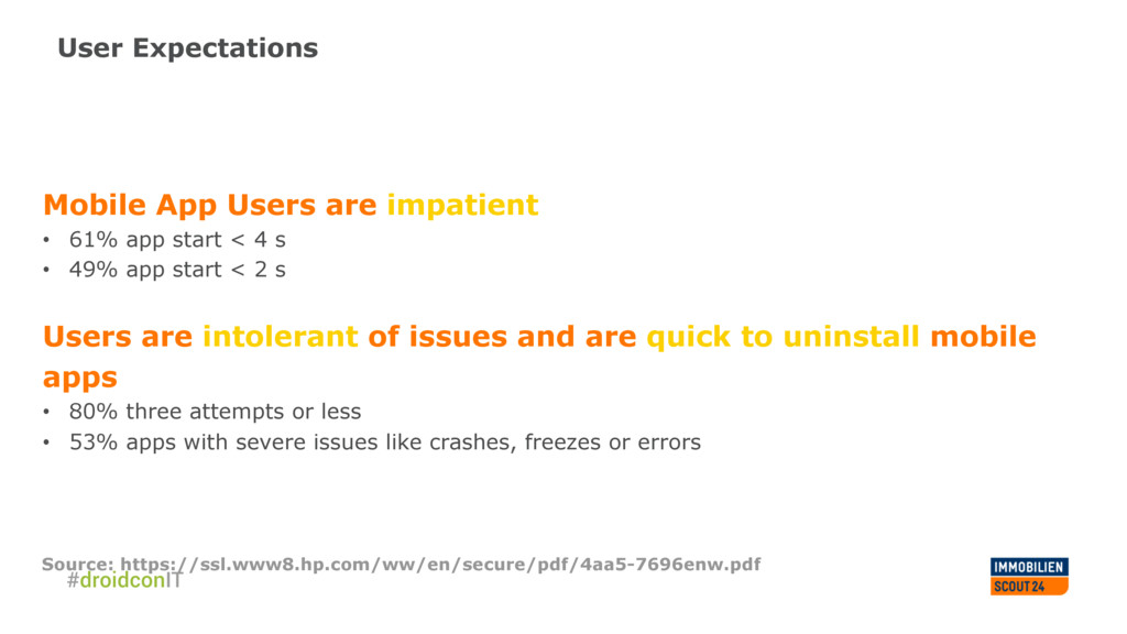 User Expectations Mobile App Users are impatien...