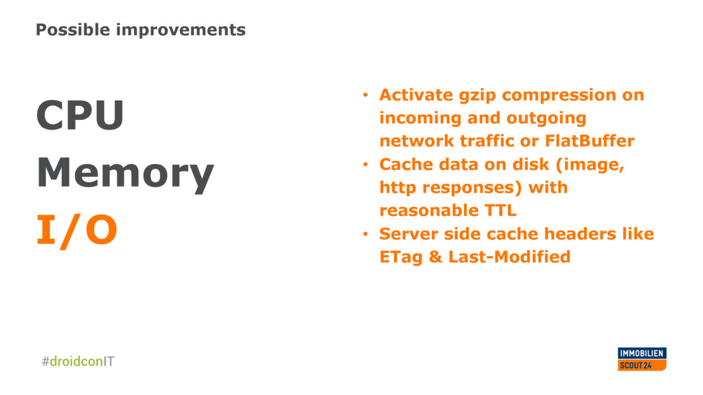 Possible improvements CPU Memory I/O • Activat...