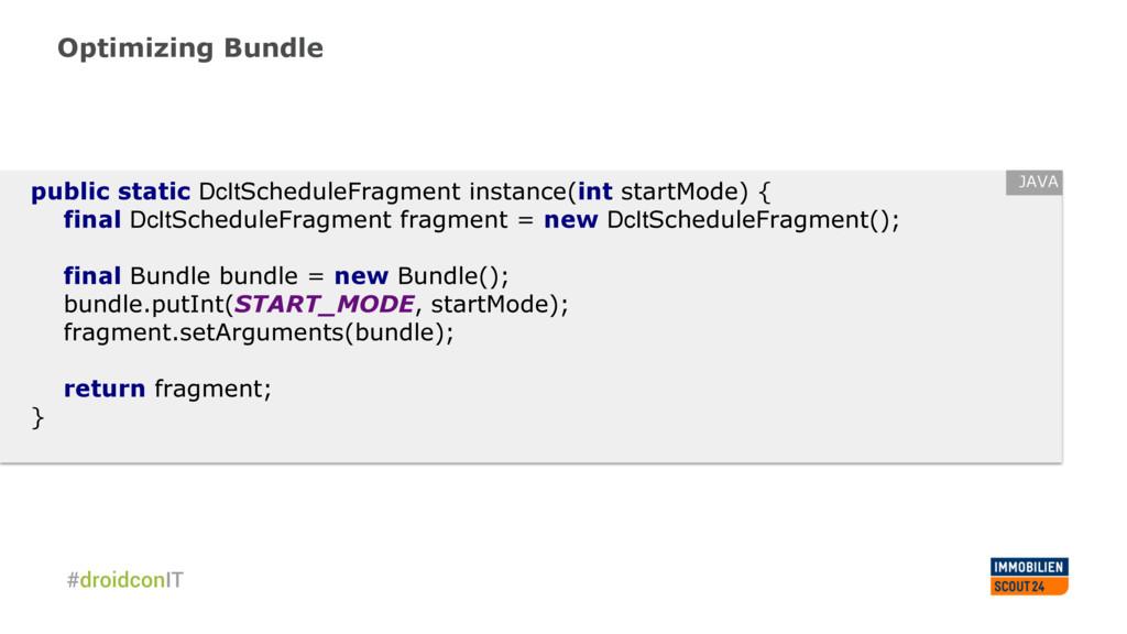 Optimizing Bundle public static DcItScheduleFra...