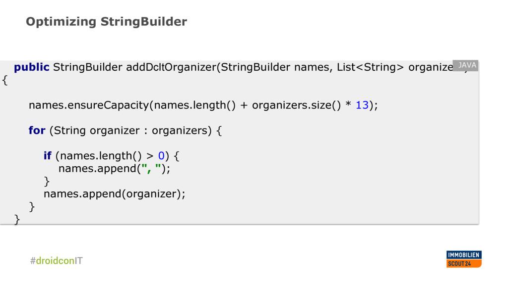 Optimizing StringBuilder public StringBuilder a...