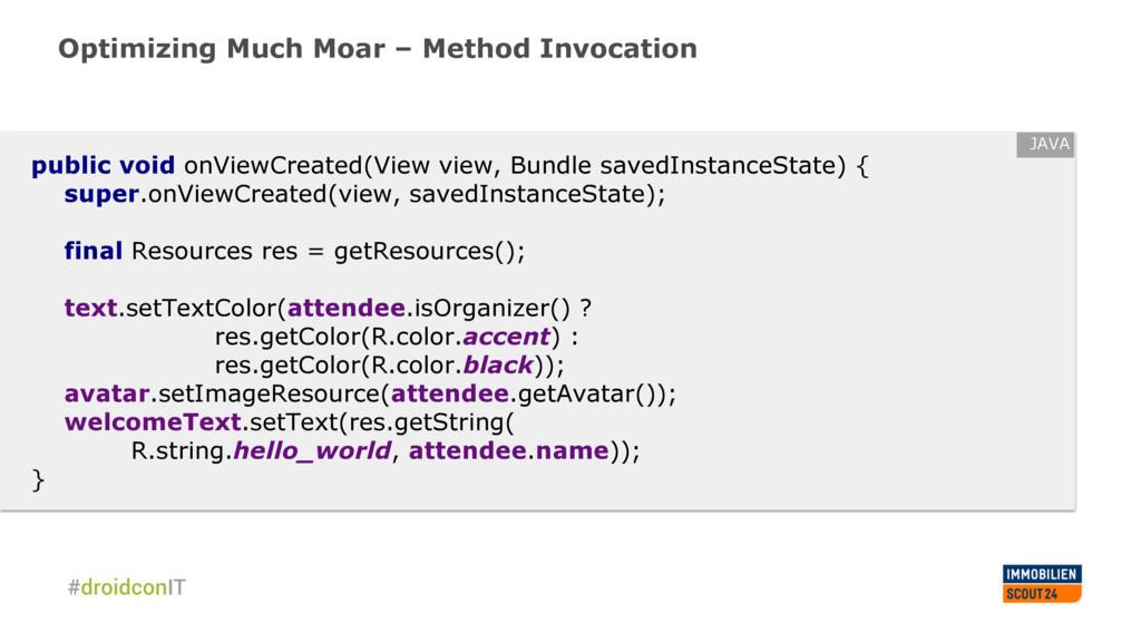 Optimizing Much Moar – Method Invocation public...