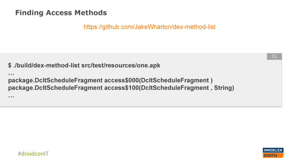 Finding Access Methods https://github.com/JakeW...