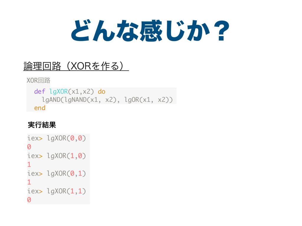 ͲΜͳײ͔͡ʁ ཧճ࿏ʢ903Λ࡞Δʣ iex> lgXOR(0,0) 0 iex> lg...