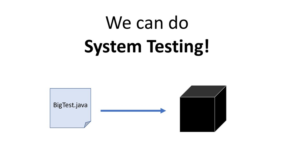 BigTest.java We can do System Testing!