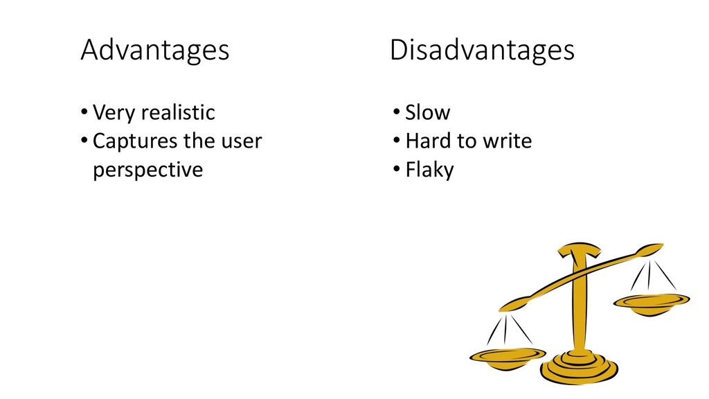 Advantages Disadvantages • Very realistic • Cap...