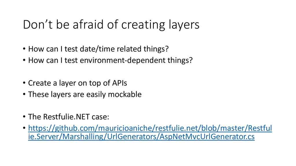 Don't be afraid of creating layers • How can I ...